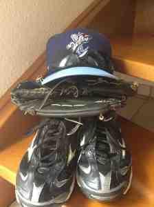 My gear for baseball camp.